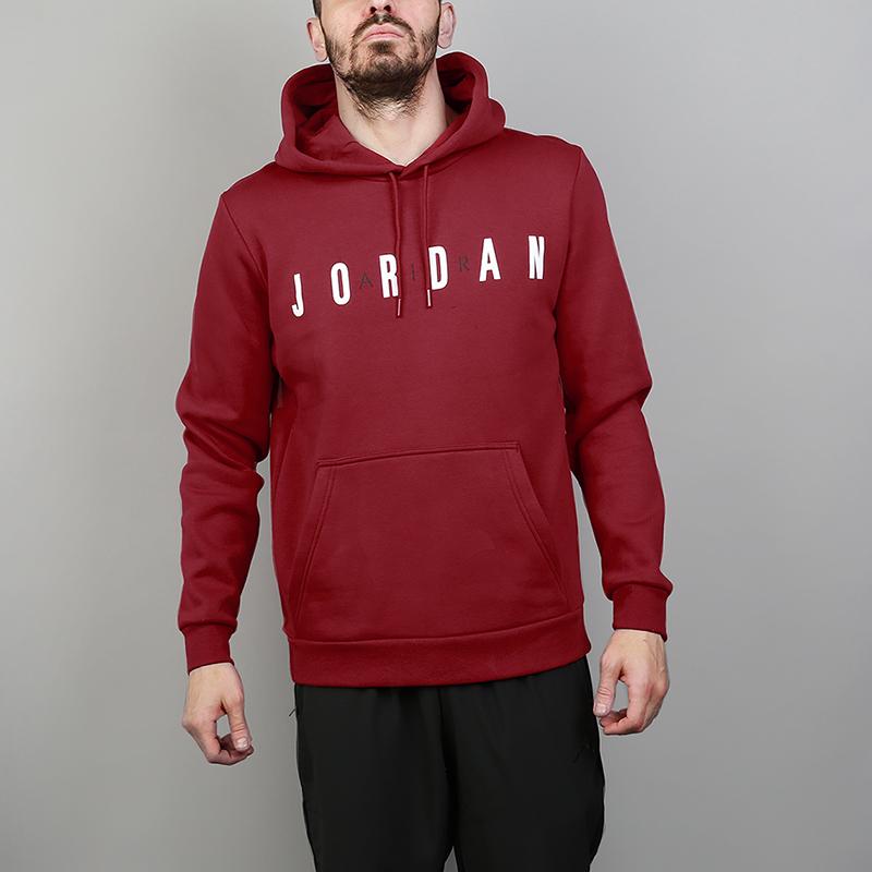 Толстовка Jordan Sportswear Flight Fleece HoodieТолстовки свитера<br>80% хлопок, 20% полиэстер<br><br>Цвет: Бордовый<br>Размеры US: S;M;L;XL;2XL<br>Пол: Мужской