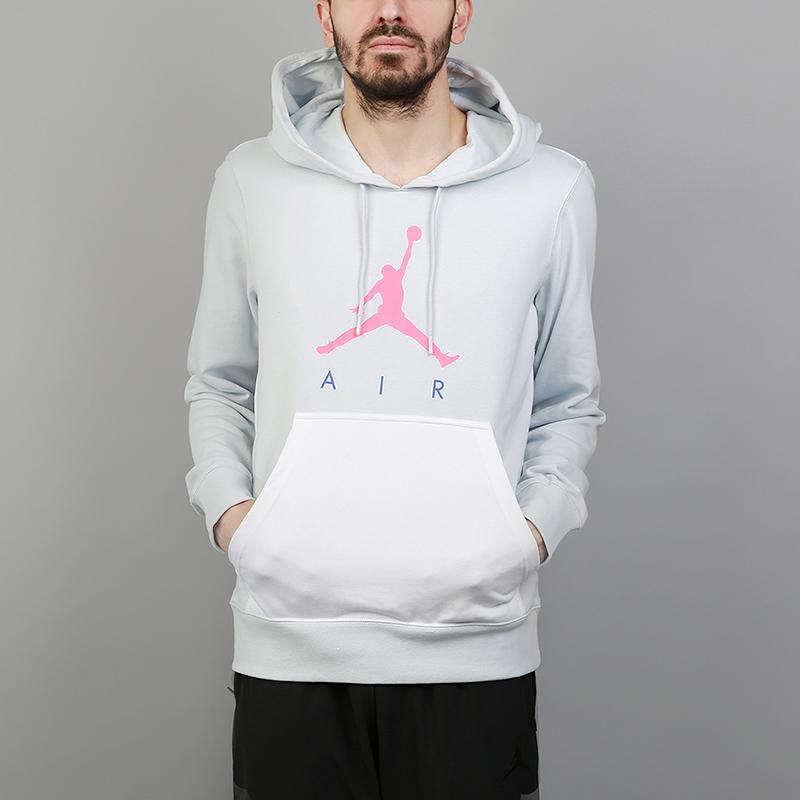 Толстовка Jordan Jumpman Air Lightweight HoodieТолстовки свитера<br>62% хлопок, 38% полиэстер<br><br>Цвет: Голубой<br>Размеры US: S;M;L;XL;2XL<br>Пол: Мужской