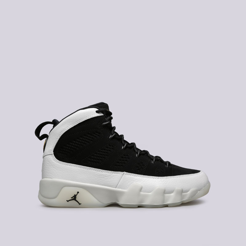 Кроссовки Jordan IX RetroКроссовки lifestyle<br>Кожа, синтетика, текстиль, резина<br><br>Цвет: Черный<br>Размеры US: 9.5;10<br>Пол: Мужской