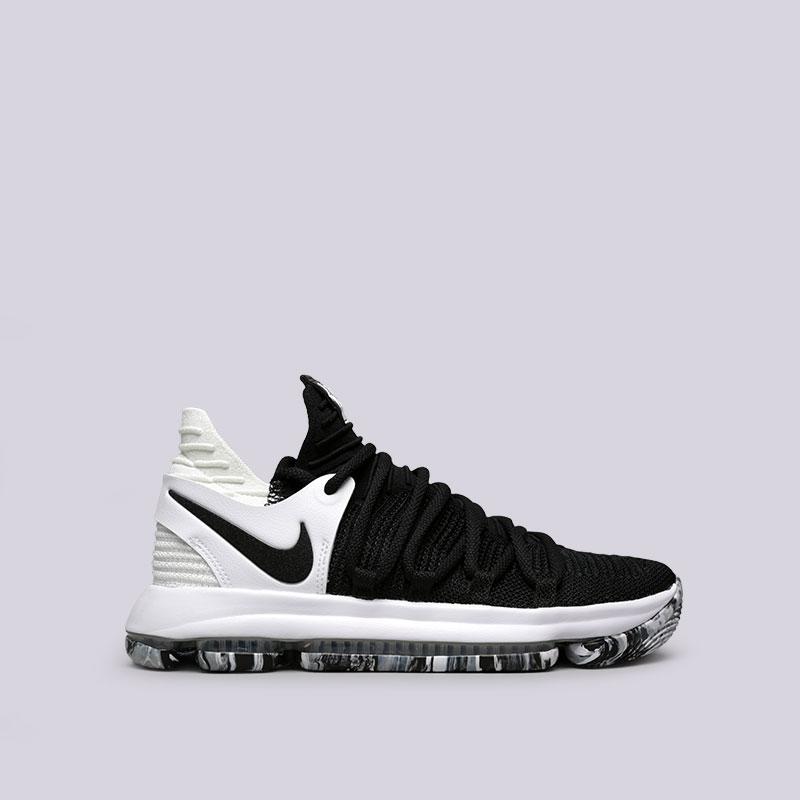 Кроссовки Nike Zoom KD10Кроссовки баскетбольные<br>Текстиль, резина<br><br>Цвет: Черный<br>Размеры US: 8;8.5;9;9.5;10;10.5;11;11.5;12;12.5;13;13.5;14;15<br>Пол: Мужской