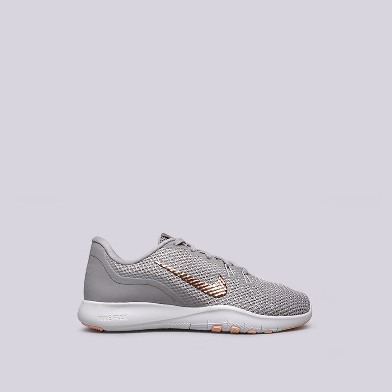 Кроссовки Nike WMNS Flex Trainer 7 PrintКроссовки lifestyle<br>Текстиль, синтетика, пластик, резина<br><br>Цвет: Серый<br>Размеры US: 6;6.5;7;7.5;8.5<br>Пол: Женский