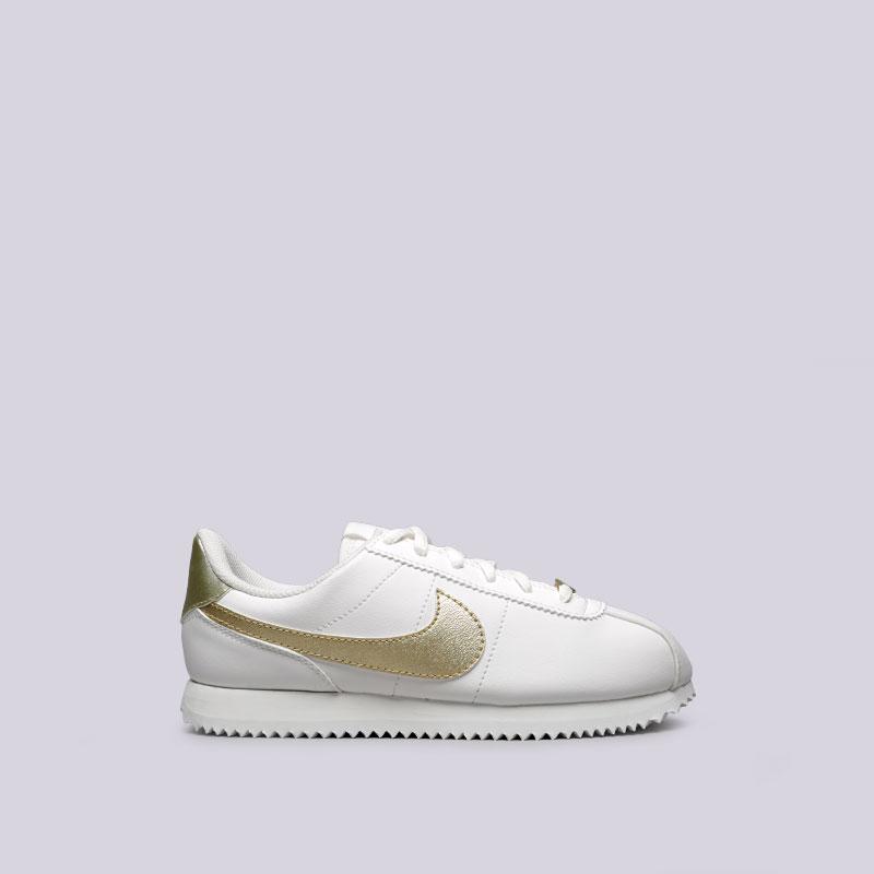 Кроссовки Nike Cortez Basic SL GSКроссовки lifestyle<br>Синтетика, текстиль, резина<br><br>Цвет: Белый<br>Размеры US: 3.5Y;4Y;4.5Y;5Y;5.5Y;6Y;6.5Y;7Y<br>Пол: Женский