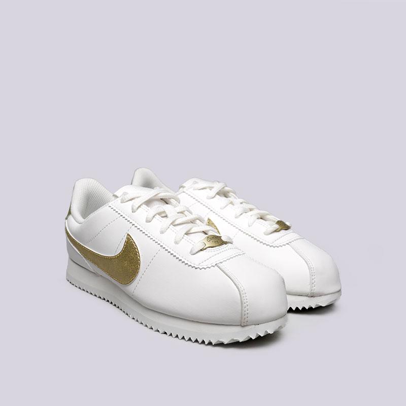 022bddd5 женские белые кроссовки nike cortez basic sl gs 904764-105 - цена, описание,