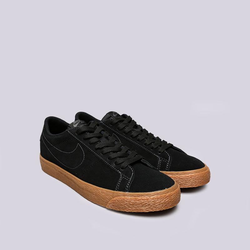 Купить мужские черные  кроссовки nike sb zoom blazer low в магазинах Streetball изображение - 3 картинки