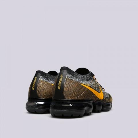 Купить мужские чёрные, серые, жёлтые  кроссовки nike air vapormax flyknit в магазинах Streetball - изображение 4 картинки