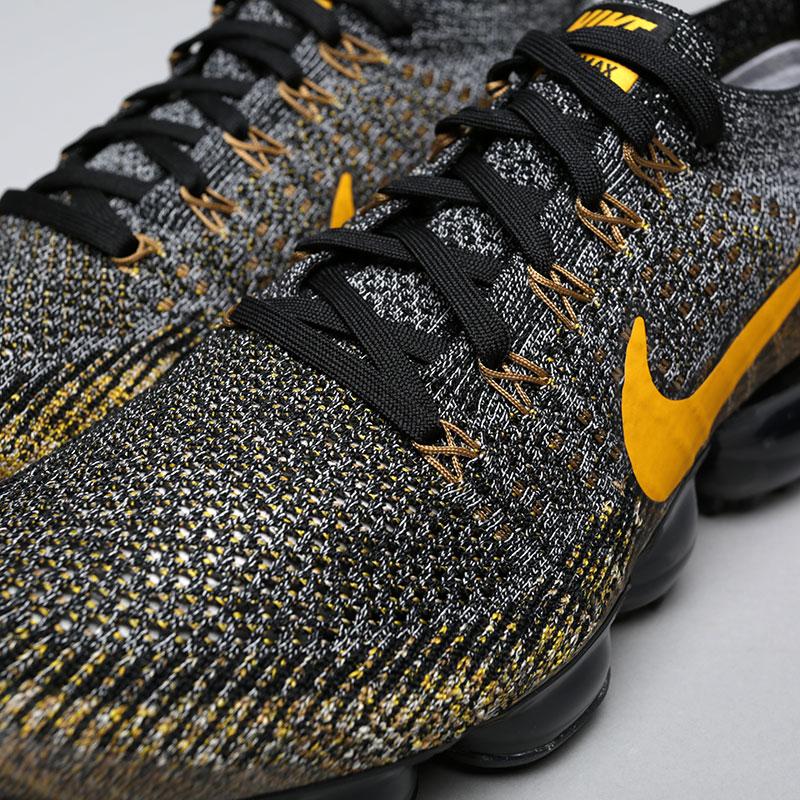 Купить мужские чёрные, серые, жёлтые  кроссовки nike air vapormax flyknit в магазинах Streetball изображение - 5 картинки