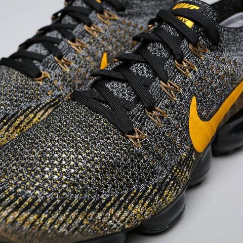 Купить мужские чёрные, серые, жёлтые  кроссовки nike air vapormax flyknit в магазинах Streetball - изображение 5 картинки