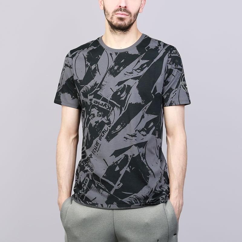 Футболка Nike Dri-FIT Kyrie Printed T-ShirtФутболки<br>Хлопок, полиэстер<br><br>Цвет: Серый<br>Размеры US: S;M;L;XL;2XL<br>Пол: Мужской