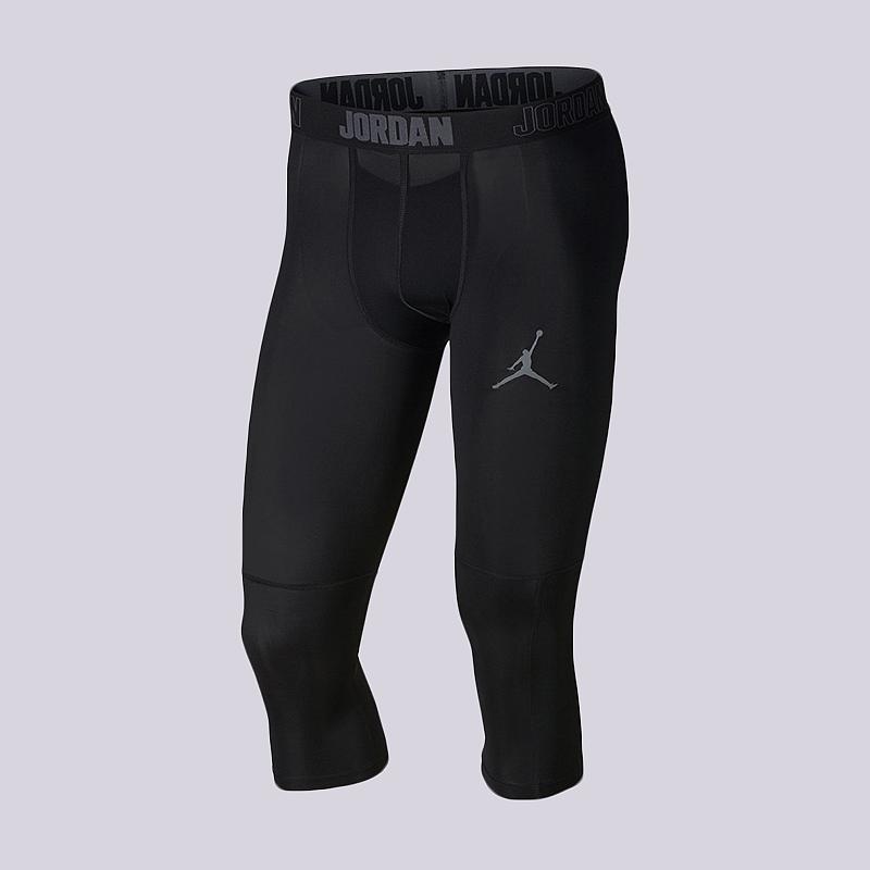 Тайтсы Jordan Dri-FIT 23 Alpha 3/4 Training TightsКомпрессионное белье<br>90% полиэстер, 10% эластан<br><br>Цвет: Черный<br>Размеры US: S;M;L;XL<br>Пол: Мужской