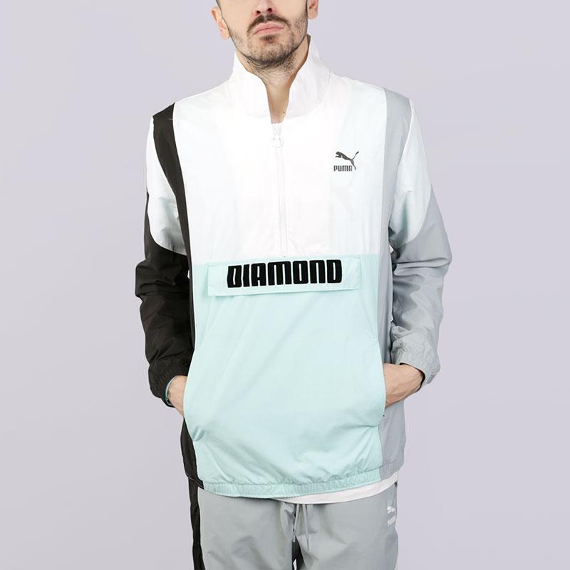 Ветровка Puma X Diamond SavannahКуртки, пуховики<br>Полиестер<br><br>Цвет: Белый<br>Размеры UK: L;XL<br>Пол: Мужской