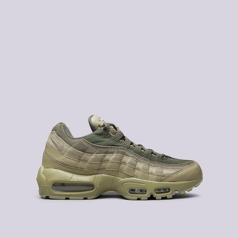 Кроссовки Nike Air Max 95 PRMКроссовки lifestyle<br>Кожа, текстиль, синтетика, резина, пластик<br><br>Цвет: Зелёный<br>Размеры US: 8;8.5;9;9.5;10;10.5;11;11.5;12<br>Пол: Мужской