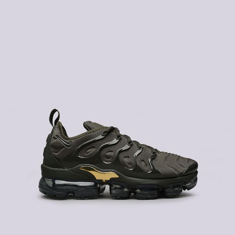 Кроссовки Nike Air Vapormax PlusКроссовки lifestyle<br>Пластик, текстиль, резина<br><br>Цвет: Зелёный<br>Размеры US: 8;8.5;12<br>Пол: Мужской