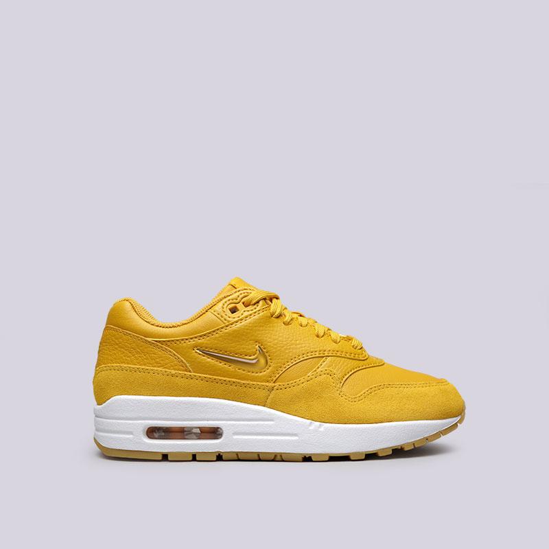 Кроссовки Nike WMNS Air Max 1 Premium SCКроссовки lifestyle<br>Кожа, синтетика, текстиль, резина<br><br>Цвет: Жёлтый<br>Размеры US: 6;6.5;7;7.5;8;8.5;9<br>Пол: Женский
