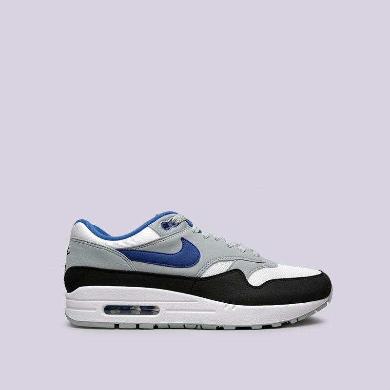 Кроссовки Nike Air Max 1Кроссовки lifestyle<br>Пластик, кожа, текстиль, резина<br><br>Цвет: Белый<br>Размеры US: 8;8.5;9;9.5;10;10.5;11;11.5<br>Пол: Мужской