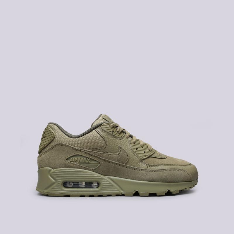 Кроссовки Nike Air Max 90 PremiumКроссовки lifestyle<br>Кожа, текстиль, резина<br><br>Цвет: Зелёный<br>Размеры US: 8;8.5;9;9.5;10;10.5;11;11.5;12<br>Пол: Мужской