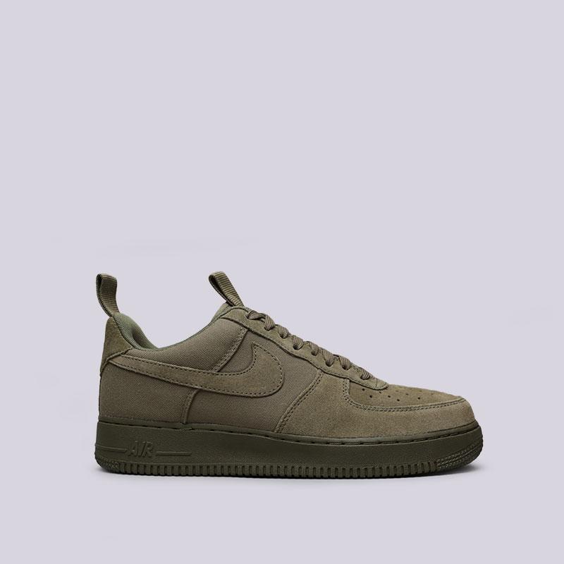 Кроссовки Nike Air Force 1 07 CNVSКроссовки lifestyle<br>Кожа, текстиль, резина<br><br>Цвет: Зелёный<br>Размеры US: 11.5;12<br>Пол: Мужской