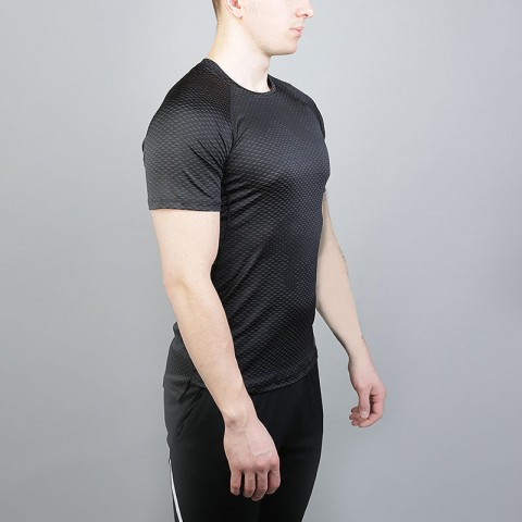 мужскую черную  футболка nike pro hypercool short-sleeve training top 888291-010 - цена, описание, фото 2