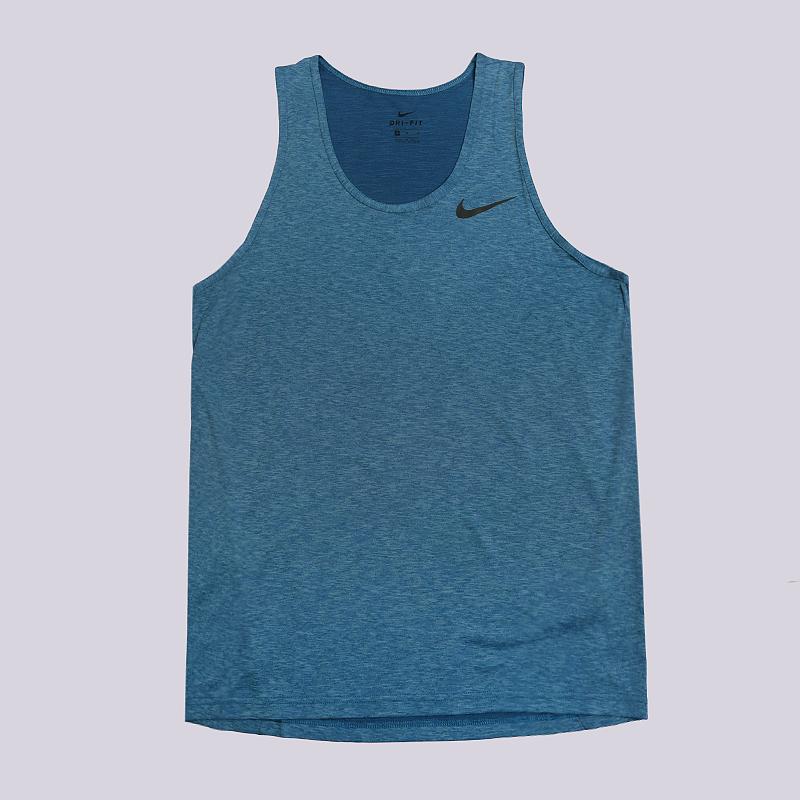 Майка Nike Dri-FIT Breathe VestБезрукавки<br>100% полиэстер<br><br>Цвет: Синий<br>Размеры US: S;M;XL;2XL<br>Пол: Мужской