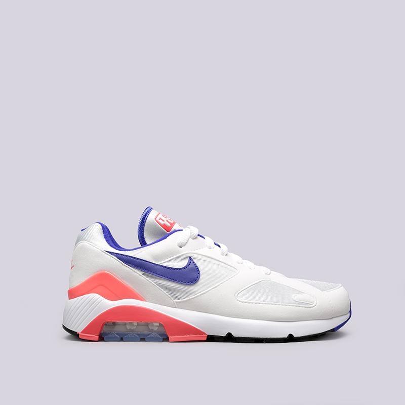 Кроссовки Nike Air Max 180Кроссовки lifestyle<br>Текстиль, резина<br><br>Цвет: Белый<br>Размеры US: 8;8.5;9;9.5;11;11.5<br>Пол: Мужской