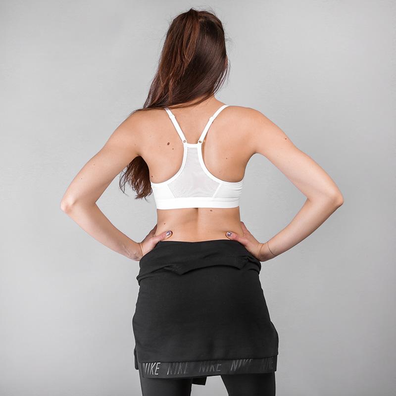 женский белый  топ nike indy sparkle light support sports bra AA2106-100 - цена, описание, фото 4