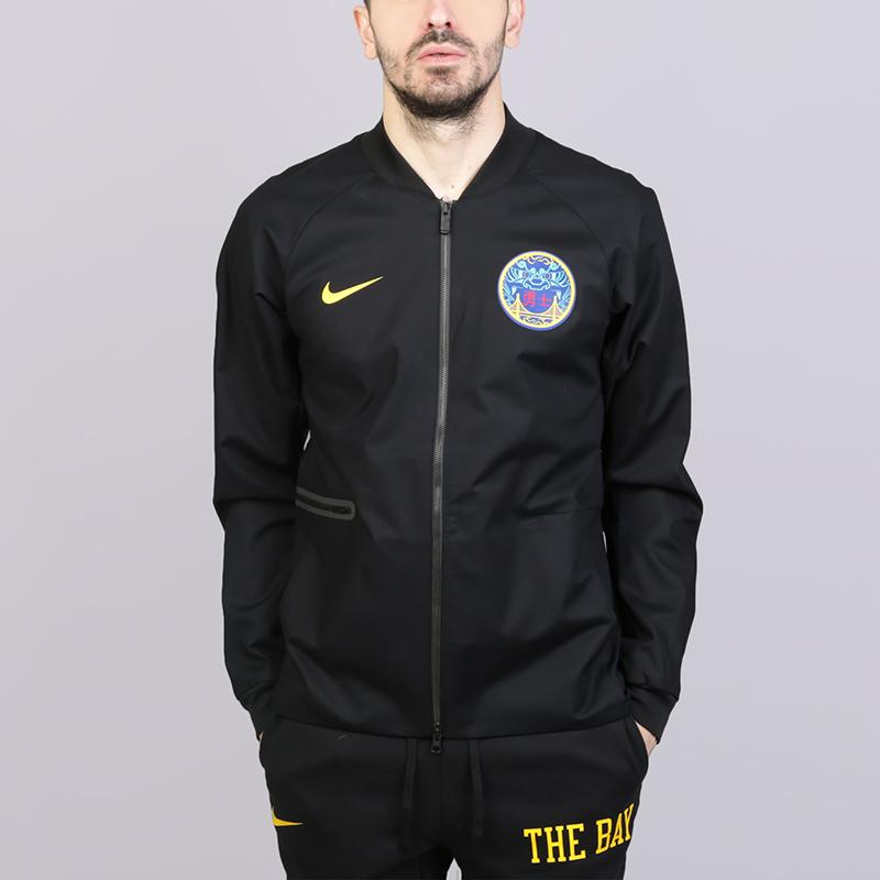 Куртка Nike Golden State Warriors City EditionКуртки, пуховики<br>Хлопок, эластан, полиэстер<br><br>Цвет: Чёрный<br>Размеры US: S;M;XL;2XL<br>Пол: Мужской