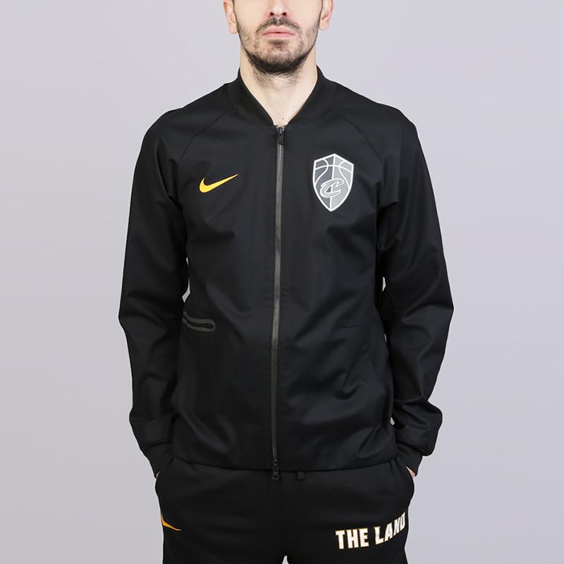 Куртка Nike Cleveland Cavaliers City EditionКуртки, пуховики<br>Хлопок, эластан, полиэстер<br><br>Цвет: Чёрный<br>Размеры US: S;M;L;XL;2XL<br>Пол: Мужской