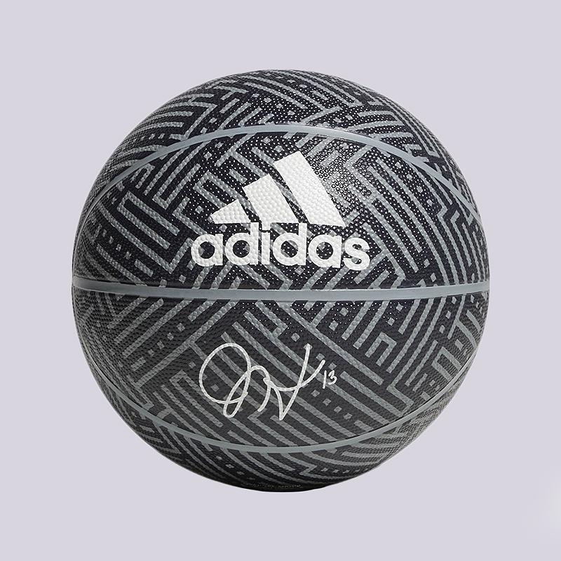 Мяч №7 adidas Harden Sig BallМячи<br>Резина<br><br>Цвет: Серый<br>Размеры UK: 7
