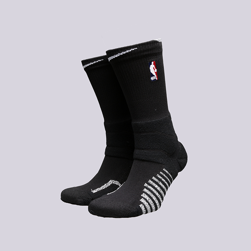Носки Nike Grip Power CrewНоски<br>Полиестер, нейлон, хлопок, эластан<br><br>Цвет: Чёрный<br>Размеры US: M;L;XL<br>Пол: Мужской