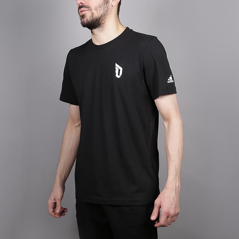 Футболка adidas Dame Logo TeeФутболки<br>70% хлопок, 30% полиэстер<br><br>Цвет: Черный<br>Размеры UK: S;M;L;XL;2XL<br>Пол: Мужской