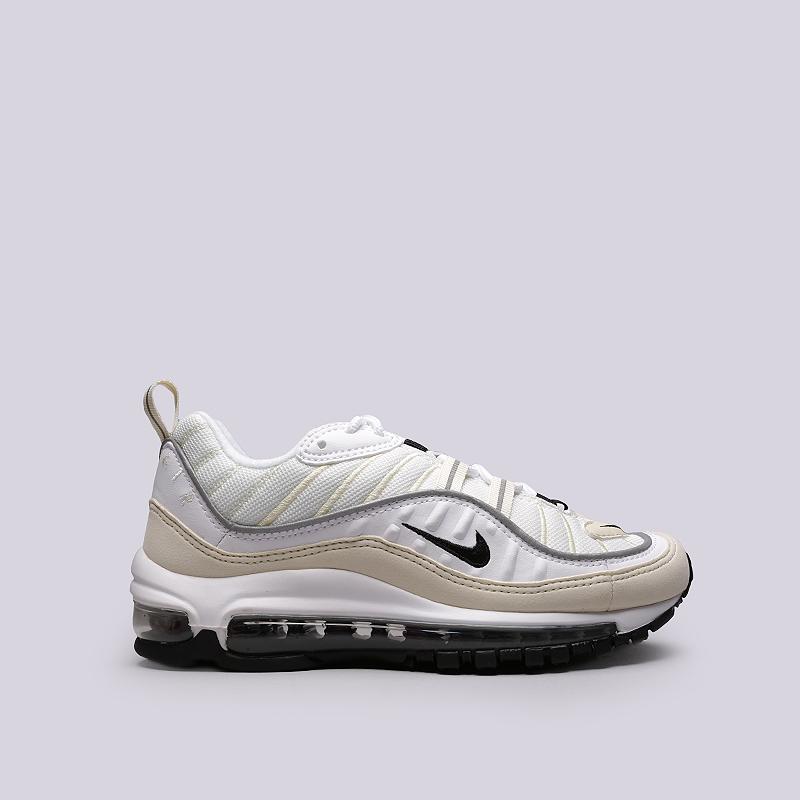 Кроссовки Nike WMNS Air Max 98Кроссовки lifestyle<br>Текстиль, синтетика, резина, пластик<br><br>Цвет: Бежевый<br>Размеры US: 5;6;6.5;7;7.5;8;8.5<br>Пол: Женский