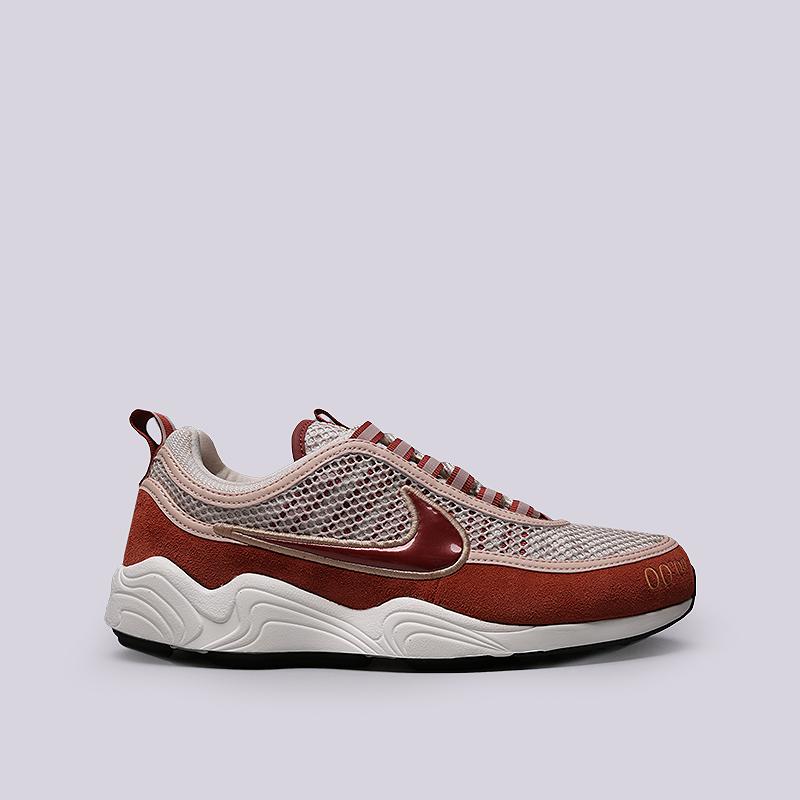 Кроссовки Nike Air Zoom Spiridon UKКроссовки lifestyle<br>Кожа, текстиль, резина, пластик<br><br>Цвет: Бежевый<br>Размеры US: 8;8.5;9;9.5;11;11.5;12<br>Пол: Мужской