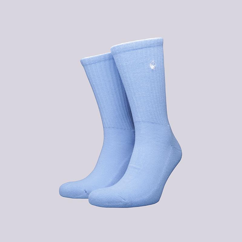 Носки Carhartt WIP C-logoНоски<br>Хлопок, акрил, эластан<br><br>Цвет: Голубой<br>Размеры : OS<br>Пол: Мужской