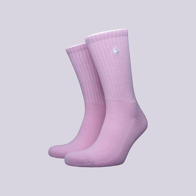Носки Carhartt WIP C-logoНоски<br>Хлопок, акрил, эластан<br><br>Цвет: Розовый<br>Размеры : OS<br>Пол: Мужской