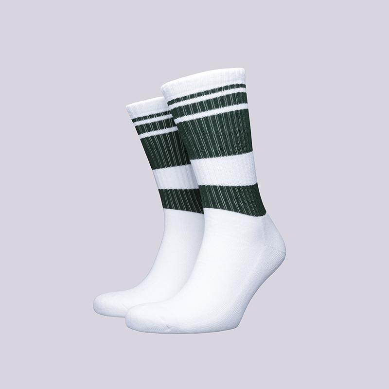 Носки Carhartt WIP OrlandoНоски<br>Хлопок, акрил, эластан<br><br>Цвет: Белый, зелёный<br>Размеры : OS<br>Пол: Мужской
