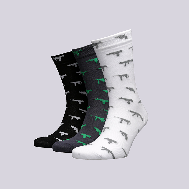Носки True spin ОружиеНоски<br>Хлопок, эластан<br><br>Цвет: Белый, серый, чёрный<br>Размеры : OS<br>Пол: Мужской