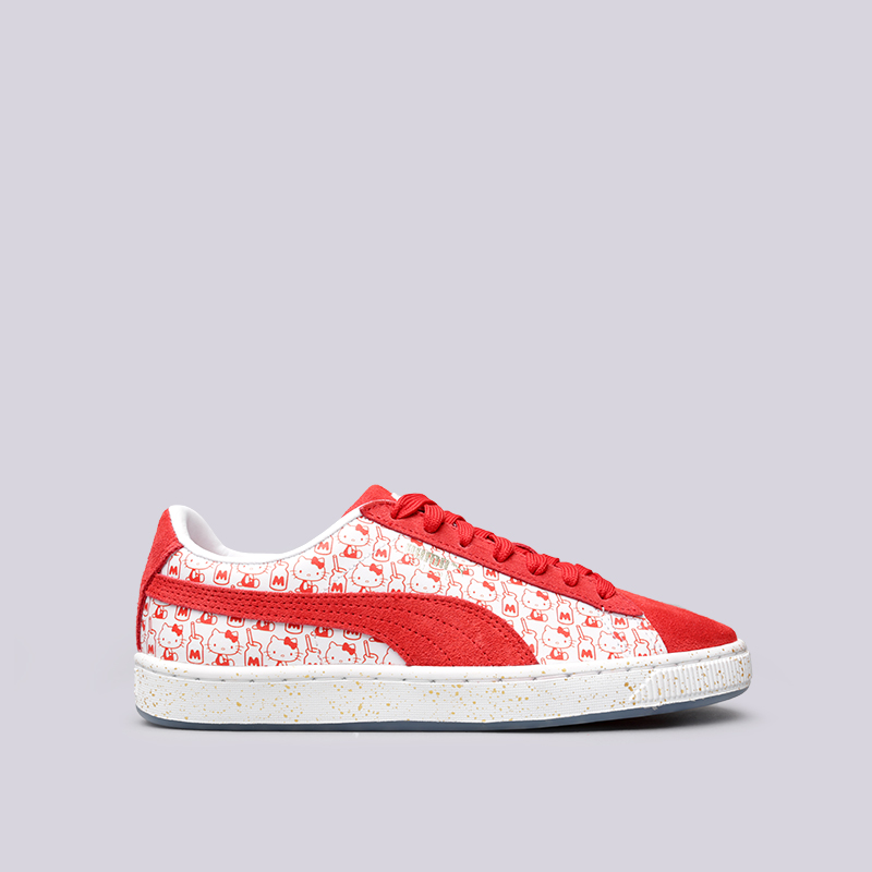 Кроссовки Puma Suede Classic x Hello KittyКроссовки lifestyle<br>Кожа, текстиль, резина<br><br>Цвет: Красный<br>Размеры UK: 4;5;5.5<br>Пол: Женский