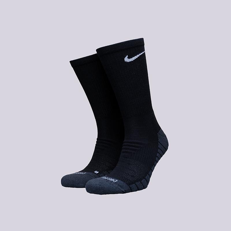 мужские черные носки Nike Dry Cush Crew (3 pair) SX5547-010 - цена, описание, фото 1