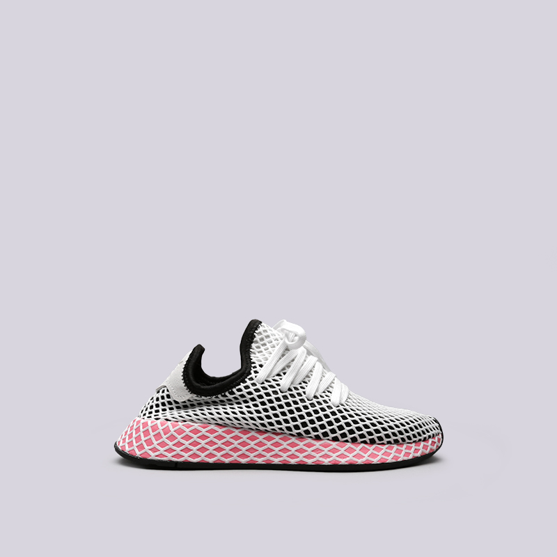 Кроссовки adidas Deerupt Runner WКроссовки lifestyle<br>Текстиль, синтетика, резина<br><br>Цвет: Чёрный, красный<br>Размеры UK: 5;5.5;7;7.5;8<br>Пол: Женский