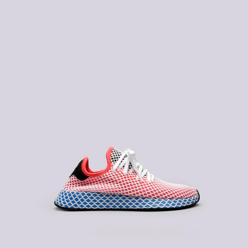 9bae4f34 женские красные кроссовки adidas deerupt runner w AC8466 - цена, описание,  фото 1