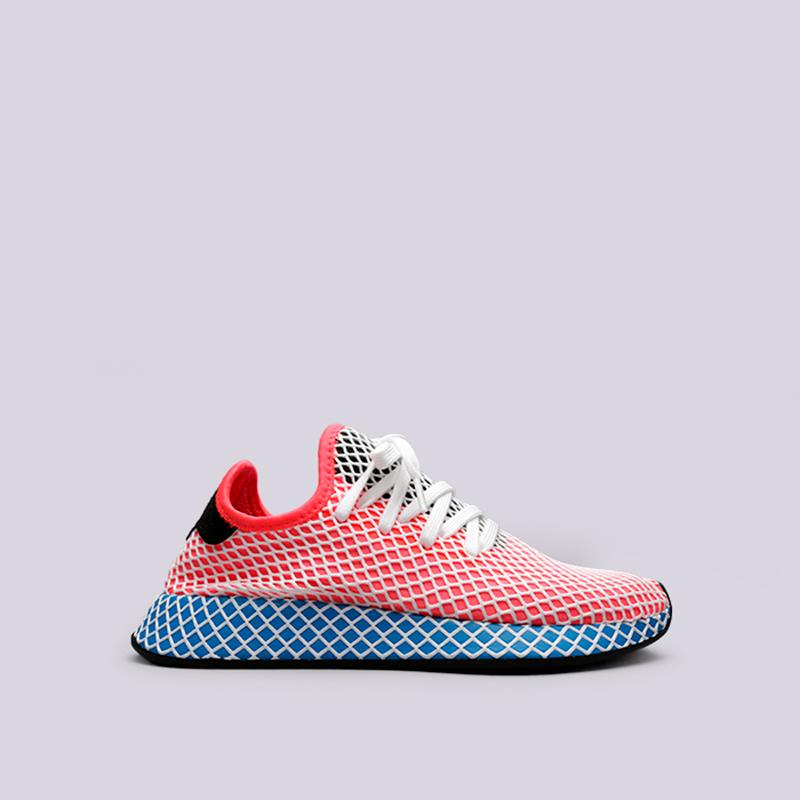 Кроссовки adidas Deerupt RunnerКроссовки lifestyle<br>Текстиль, синтетика, резина<br><br>Цвет: Красный, синий<br>Размеры UK: 7.5;8<br>Пол: Мужской