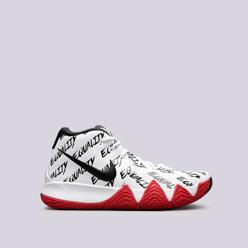 Кроссовки Nike Kyrie 4 BHMКроссовки баскетбольные<br>Кожа, текстиль, синтетика, резина<br><br>Цвет: Белый<br>Размеры US: 11;14;15<br>Пол: Мужской