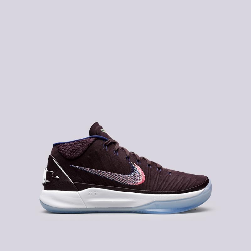 Кроссовки Nike Kobe ADКроссовки баскетбольные<br>Текстиль, синтетика, резина, пластик<br><br>Цвет: Фиолетовый<br>Размеры US: 8;8.5;9;9.5;10;10.5;11;11.5;12;12.5;13;14;15<br>Пол: Мужской