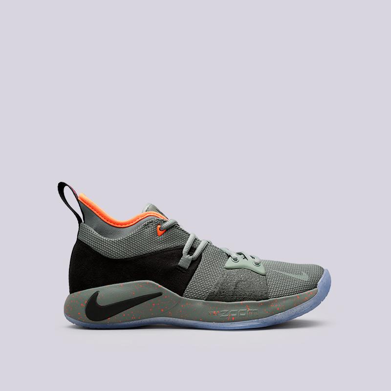 Кроссовки Nike PG 2 PalmdaleКроссовки баскетбольные<br>Текстиль, пластик, резина<br><br>Цвет: Зелёный<br>Размеры US: 9;11.5<br>Пол: Мужской