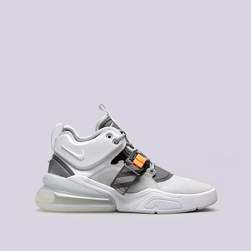 Кроссовки Nike Air Force 270Кроссовки lifestyle<br>Кожа, синтетика, текстиль, резина<br><br>Цвет: Серый<br>Размеры US: 8<br>Пол: Мужской
