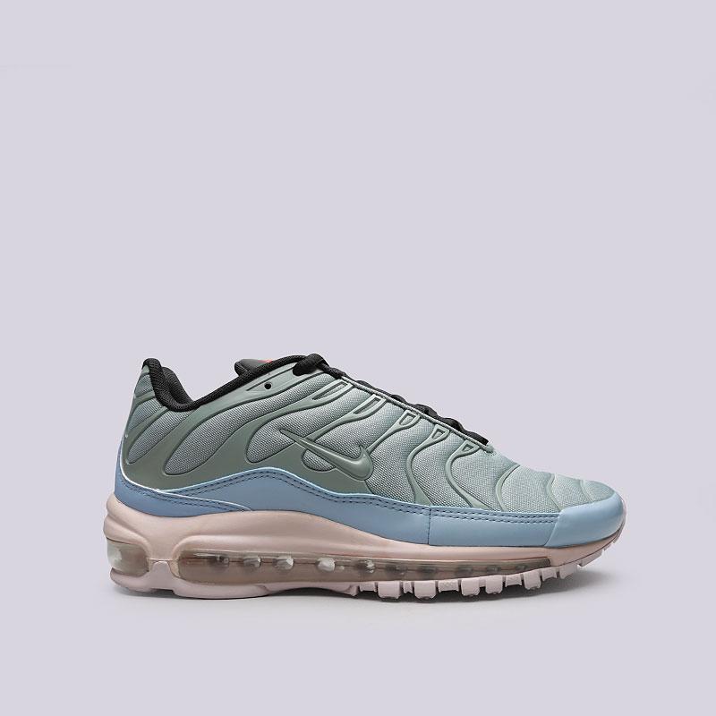 Кроссовки Nike Air Max 97 / PlusКроссовки lifestyle<br>Синтетика, текстиль, резина<br><br>Цвет: Зеленый, голубой, розовый<br>Размеры US: 7;7.5;8.5;9;9.5;10;10.5;11;11.5;12;13<br>Пол: Мужской