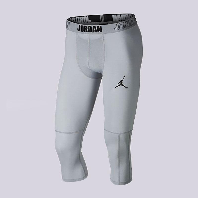 Тайтсы Jordan Dri-FIT 23 Alpha Mens 3/4 Training TightsКомпрессионное белье<br>90% полиэстер, 10% эластан<br><br>Цвет: Серый<br>Размеры US: 2XL;XL;L;M;S<br>Пол: Мужской
