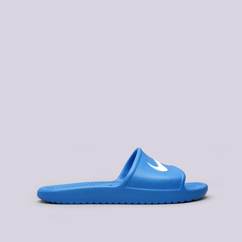 Сланцы Nike Kawa ShowerСланцы, балетки<br>Пластик<br><br>Цвет: Синий<br>Размеры US: 8;9;10;11;12;13;14;15<br>Пол: Мужской