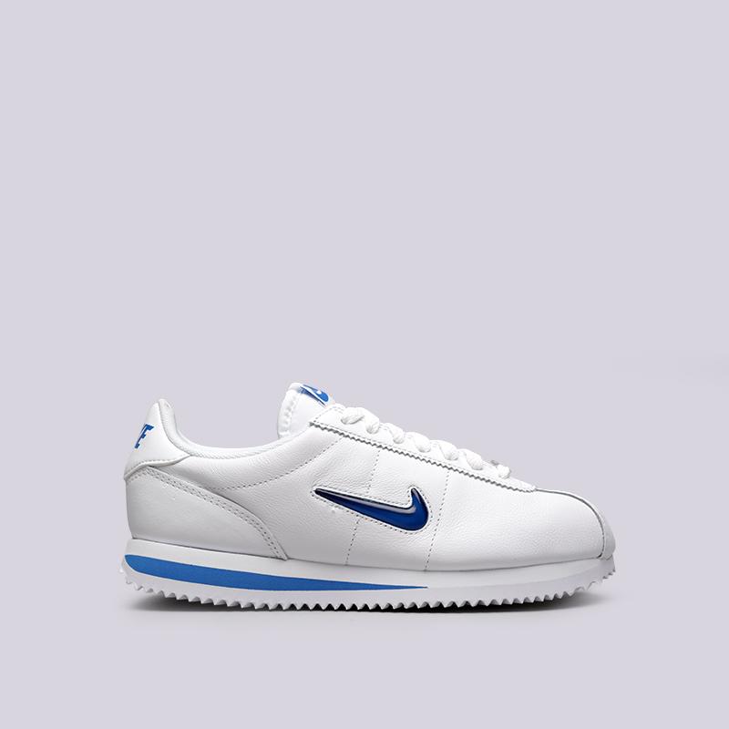 Кроссовки Nike WMNS Cortez Basic Jewel 18Кроссовки lifestyle<br>Кожа, синтетика, текстиль, резина<br><br>Цвет: Белый<br>Размеры US: 6;6.5;7;7.5;8;8.5;9<br>Пол: Женский