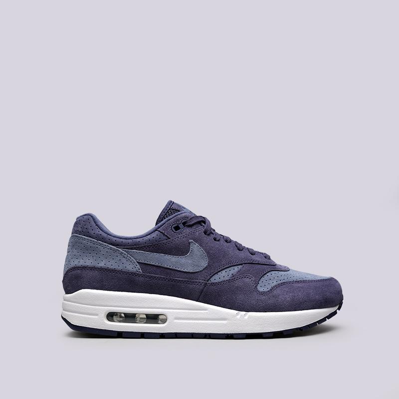 Кроссовки Nike Air Max 1 PremiumКроссовки lifestyle<br>Кожа, текстиль, резина<br><br>Цвет: Фиолетовый<br>Размеры US: 10;9;12;10.5;8;11;8.5;11.5<br>Пол: Мужской