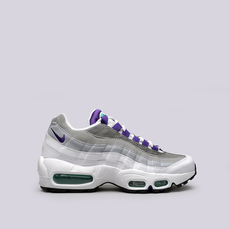 Кроссовки Nike WMNS Air Max 95Кроссовки lifestyle<br>Синтетика, кожа, текстиль, резина, пластик<br><br>Цвет: Белый<br>Размеры US: 6;6.5;7;7.5;8;8.5;9<br>Пол: Женский
